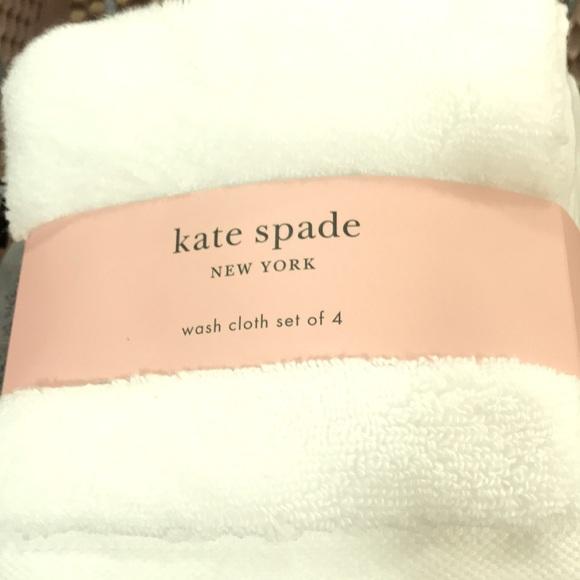 Kate ♠️ Spade Wash Cloth set of 4 Kate Spade